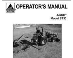 AGCO 79019034B Operator Manual - ST30 Compact Tractor