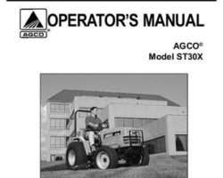 AGCO 79019035B Operator Manual - ST30X Compact Tractor (std trans)