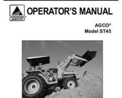 AGCO 79019037B Operator Manual - ST45 Compact Tractor