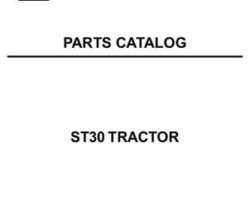 AGCO 79019100 Parts Book - ST30 Compact Tractor