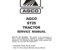 AGCO 79019162 Service Manual - ST25 Compact Tractor (packet)