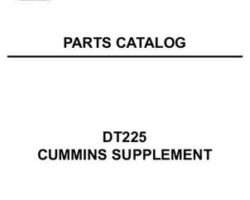AGCO 79019181 Parts Book - DT225 Cummins (supplement)