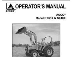 AGCO 79019262 Operator Manual - ST35X / ST40X Compact Tractor