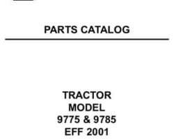 AGCO Allis 79019270 Parts Book - 9775 / 9785 Tractor (eff 2001)