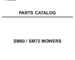 AGCO 79019286B Parts Book - SM60 / SM72 Mid-Mount Mower