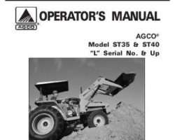 AGCO 79019363B Operator Manual - ST35 / ST40 Compact Tractor (eff sn 'L')