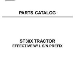 AGCO 79019367B Parts Book - ST30X Compact Tractor (std trans, eff sn 'L')