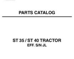AGCO 79019369B Parts Book - ST35 / ST40 Compact Tractor (eff sn 'L')