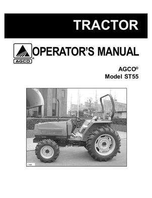 AGCO 79021573 Operator Manual - ST55 Compact Tractor