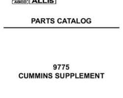 AGCO Allis 79021600 Parts Book - 9775 Tractor (Cummins supplement)