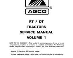 AGCO 79021621 Service Manual - RT Series / DT Series Tractor (volume 1, Dyna Shift) (packet)