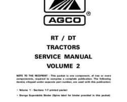 AGCO 79021622 Service Manual - RT Series / DT Series Tractor (volume 2, Dyna Shift) (packet)