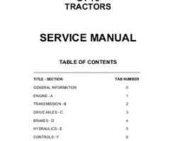 AGCO 79021715 Service Manual - GT45 / GT55 / GT65 / GT75 Tractor (packet)
