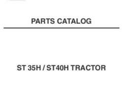 AGCO 79021719 Parts Book - ST35 / ST40 Compact Tractor (hydro, eff sn 'L')
