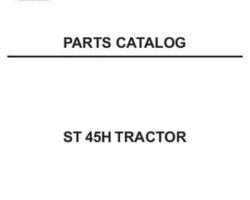 AGCO 79021721 Parts Book - ST45 Compact Tractor (hydro trans)