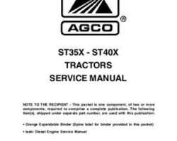 AGCO 79021727 Service Manual - ST35X / ST40X Compact Tractor (packet)