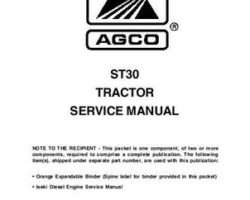 AGCO 79021729 Service Manual - ST30 Compact Tractor (packet)