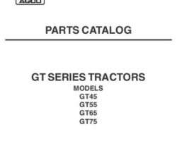 AGCO 79021797A Parts Book - GT45 / GT55 / GT65 / GT75 Tractor