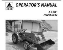 AGCO 79021928 Operator Manual - ST32 Compact Tractor (hydro trans)