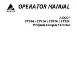AGCO 79022656E Operator Manual - ST34A / ST41A / ST47A / ST52A Compact Tractor (platform)