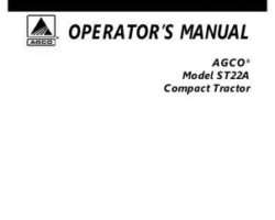 AGCO 79023270A Operator Manual - ST22A Compact Tractor