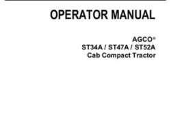 AGCO 79023375C Operator Manual - ST34A / ST47A / ST52A Compact Tractor (cab)