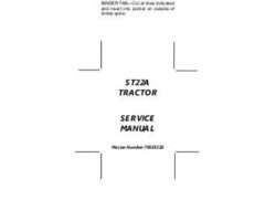 AGCO 79023519A Service Manual - ST22A Compact Tractor