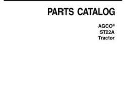 AGCO 79023601B Parts Book - ST22A Compact Tractor