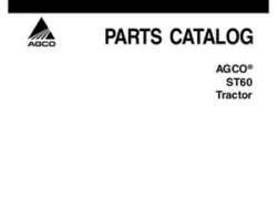 AGCO 79024082B Parts Book - ST60A Compact Tractor