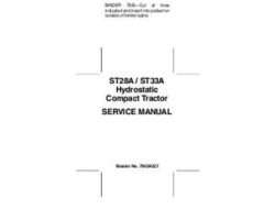 AGCO 79024228A Service Manual - ST28A / ST33A Compact Tractor (hydro trans) (packet)