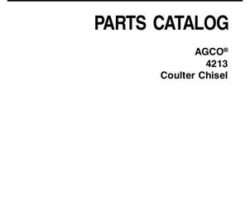 AGCO 79024999D Parts Book - 4213 Coulter Chisel