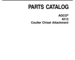 AGCO 79025002C Parts Book - 4213 Coulter Chisel (attachment)