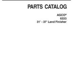 AGCO 79026382C Parts Book - 6333 Land Finisher (31 ft - 37 ft)