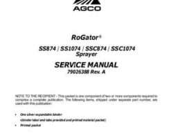 Ag-Chem 79026388A Service Manual - SS874 / SS1074 / SSC874 / SS1074 RoGator (chassis) (packet)