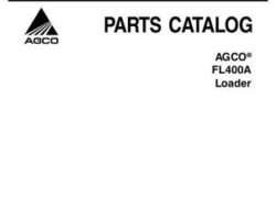 AGCO 79026410A Parts Book - FL400A Loader