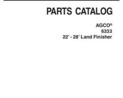 AGCO 79026446C Parts Book - 6333 Land Finisher (22 ft - 28 ft)