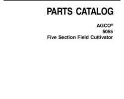 AGCO 79027271D Parts Book - 5055 Field Cultivator (5 section)