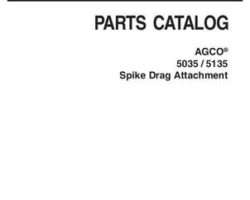 AGCO 79027311D Parts Book - 5035 / 5135 Spike Drag (attachment)