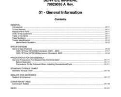 AGCO 79028095A Service Manual - ST24A Compact Tractor (packet)