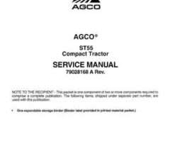 AGCO 79028168A Service Manual - ST55 Compact Tractor (packet)