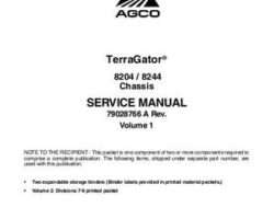 Ag-Chem 79028766A Service Manual - 8204 / 8244 TerraGator (chassis) (packet)