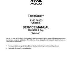 Ag-Chem 79028768A Service Manual - 6203 / 8203 TerraGator (chassis) (packet)