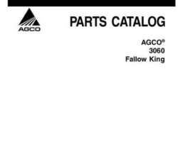 AGCO 79032812A Parts Book - 3060 Fallow King Blade Plow