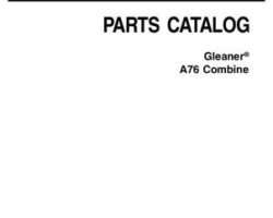Gleaner 79032835D Parts Book - A76 Combine