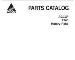AGCO 79033073A Parts Book - 4240 Tedder (pull type & 3 point)
