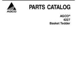 AGCO 79033082A Parts Book - 4227 Tedder (pull type & 3 point)