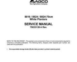 AGCO 79033139A Service Manual - 8816 / 8824 Planter (packet)