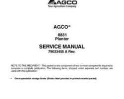 AGCO 79033455A Service Manual - 8831 Planter (packet)