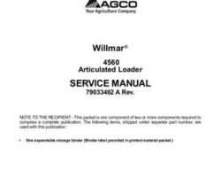 Willmar 79033462A Service Manual - 4560 Wrangler Loader (packet)