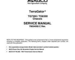 Ag-Chem 79034093C Service Manual - TG7300 / TG8300 TerraGator (chassis, 2013) (packet)